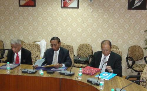 The delegation from the Human Rights Commission, Myanmar visited the commission