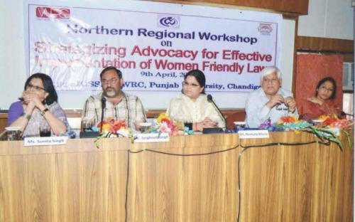 """Member Hemalta Kheria attended a workshop on """"Strategizing Advocacy for Effective Implementation of Women Friendly laws"""" held Chandigarh, on 9th April, 2012"""