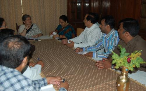 Hon'ble Chairperson visited Udaipur and met police officers