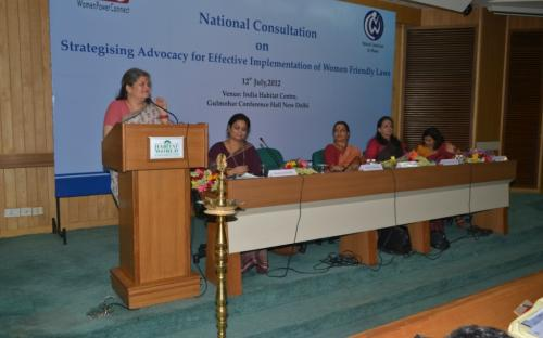"""Women Power Connect in collaboration with National Commission for Women organized a National Consultation on """"Strategizing Advocacy for Effective Implementation of Women Friendly Laws"""""""