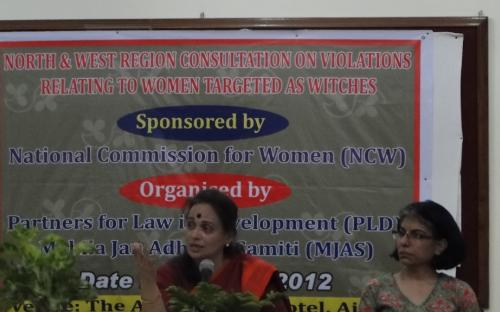 Member Ms. Nirmala Sawant Prabhavalkar attended the 'North and West Region Consultation on 'Violations related to women targeted as Witches' at Ajmer