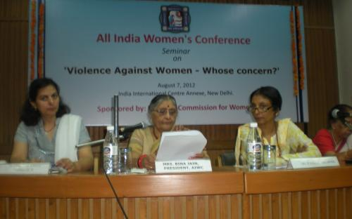 "Dr. Charu WaliKhanna and Shamina Shafique, Members NCW, attend seminar on "" Violence against Women - Whose concern"""