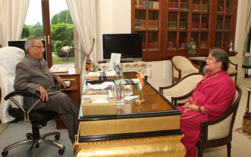 Smt. Ms. Mamta Sharma, Hon'ble Chairperson, NCW recently visited president house to meet Shri Pranab Mukherjee, Hon'ble President of India