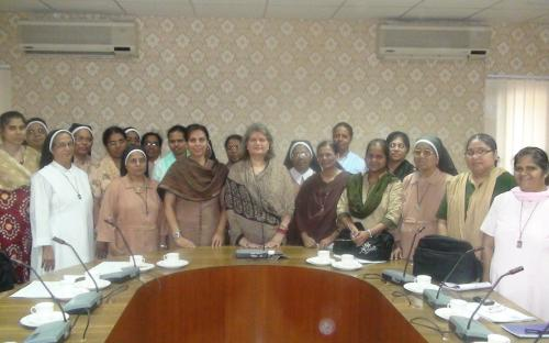 Hon'ble Chairperson Ms. Mamta Sharma interacts with a delegation from Nyaydarshan (Centre for Human Rights & Justice) Vadodara, Gujarat