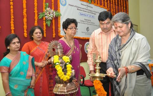 """The Commission sponsored a two days National Workshop on """"Impact of science and Technology on Social change: Women issues and challenges"""", organized at College of Home Science, MPUAT, Udaipur"""