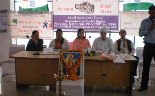 """Dr. Charu WaliKhanna Member NCW, Chief Guest at legal awareness camp on """"Reproductive Health Rights, Foeticide, Infanticide, PC & PNDT Act, 1994, and The Medical Termination of Pregnancy ACT"""" held on 21 and 22 September, 2012"""