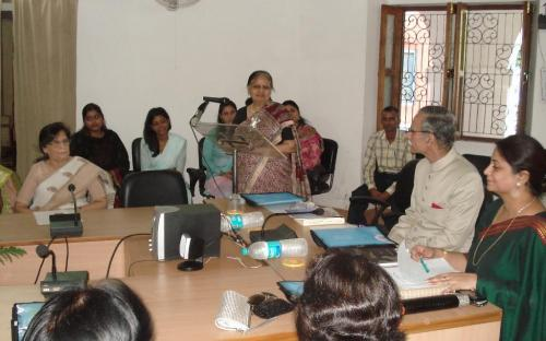 """Member Shamina Shafiq delivered a lecture at a workshop on """"Women Studies – an introduction"""" organized by Centre for Women Studies, at Aligarh Muslim University"""