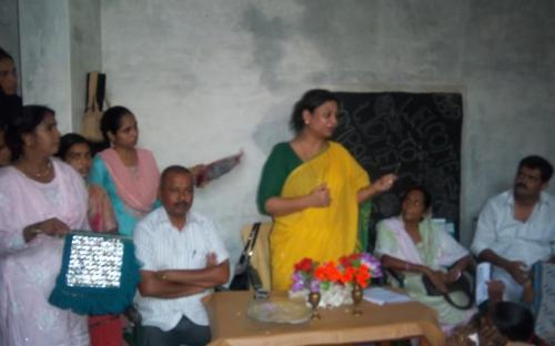 Member Shamina Shafiq attended a public hearing in village Newada, Ganeshpur, Leherpur