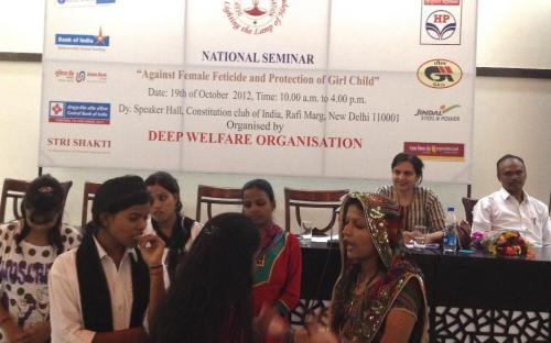 """Dr. Charu WaliKhanna, Member, NCW was distinguished speaker at seminar """"Against Female Feticide and Protection of Girl Child"""""""