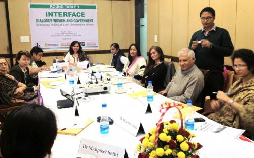 """Dr. Charu WaliKhanna Member, NCW Distinguished Speaker at Round Table Conference on the """"Interface: Open Dialogue-Women and Government"""""""