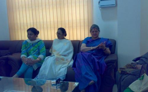 "Ms. Mamta Sharma, Hon'ble Chairperson, NCW with Member Wansuk Syiem and Member Shamina Shafiq visited Shillong to attend a Regional Conference on Empowerment of Women ""An instrument for poverty alleviation"""