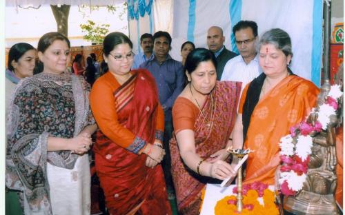 """Ms. Mamta Sharma, Hon'ble Chairperson, NCW with Ms. Hemlata Kheria, Member attended a seminar on """"Violence Against Women"""" at G D College, Alwar"""