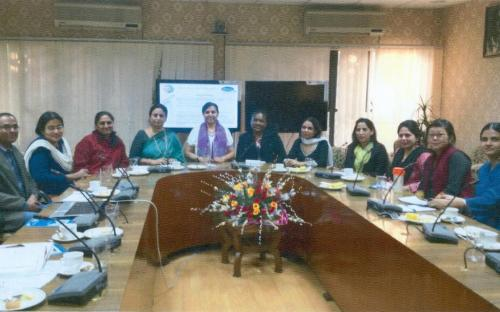 Dr. Charu WaliKhanna, Member, National Commission for Women (NCW), New Delhi, hosted a meeting with a small group of Gender Community members at NCW