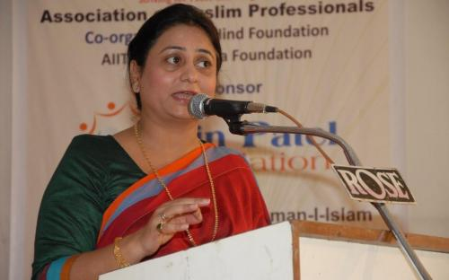 Ms. Shamina Shafiq, Member, NCW inaugurated one of the biggest Educational Events in India organized by Association of Muslim Professionals (AMP) in Mumbai
