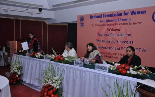 """The Commission organized a National Consultation on """"Reviewing the Strategies in the Provisions of PCP&DT Act"""" on 20th December, 2012 at India Habitat Center, New Delhi"""