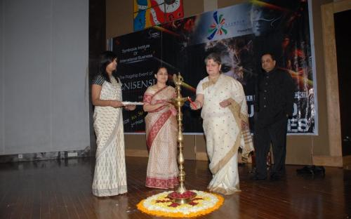 Smt Mamta Sharma, Chairperson NCW inaugurated Ignisense 2013 a management cum cultural Inter-collegiate fest at Symbiosis Institute of International Business (SIIB)