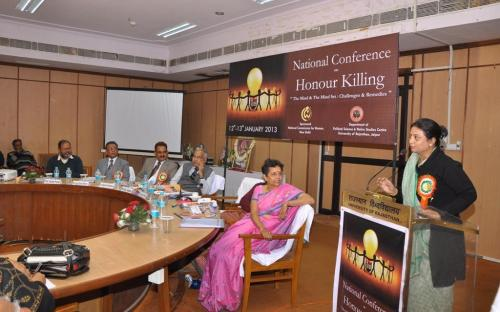 """Ms. Shamina Shafiq, Member, NCW attended a National Conference on """"Honour Killing : The Mind & The Mind Set : Challenges & Remedies"""" on 13th January 2013 in the Senate Hall of the University of Rajasthan, Jaipur"""
