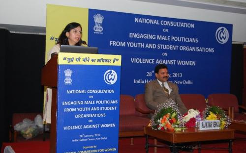 """National Commission for Women held a National Consultation titled """"Engaging Male Politicians from Youth and Student Organisations on Violence Against Women"""""""