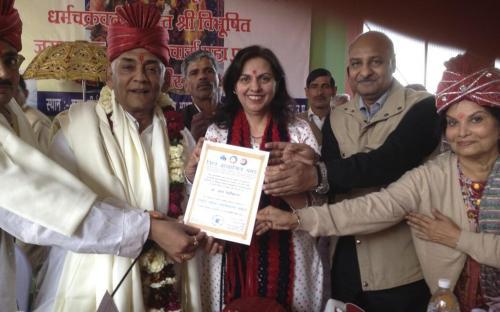 Dr. Charu WaliKhanna, Member, NCW Chief Guest at Swami Vivekanand Centenary Celebration at Village Halalpur, Block-Chandrauli, District- Baghpat, U.P