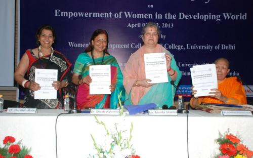 "Ms. Mamta Sharma, Hon'ble Chairperson, NCW was the chief guest at First WDC International Conference on ""Empowerment of Women in Developing World"""