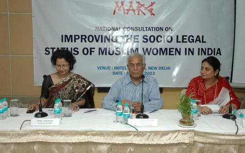 Ms. Shamina Shafiq, Member, NCW attended National Consultation on Muslim Women in India held on 3rd April, 2013