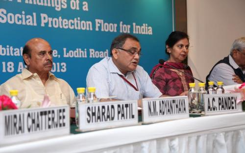 Dr Charu WaliKhanna, Member, NCW attended Dissemination of Findings of a Joint Nation Study on Social Protection Floor for India