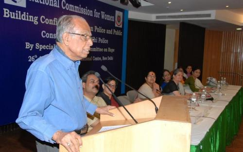 The members of the Commission attended a consultation on Building Confidence between Police and Public Consultation with Delhi Police organized by Special Study Expert Committee on rape