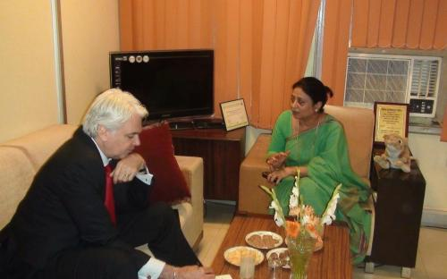 Ms. Shamina Shafiq, Member, NCW had elaborate discussions on gender issues (major concern internationally) with Mr. Richard Burge, Chief Executive of Wilton Park, Executive Agency of the Foreign and Commonwealth Office