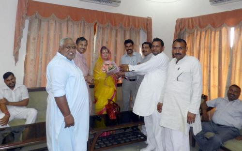 Ms. Mamta Sharma, Chairperson, NCW visited district Alwar, Rajasthan and met various local leaders and administrative officers
