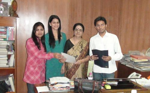 Student representatives give memorandum to Hon'able Chairperson, NCW on Radhika Murder Case at Dhaula Kuan, Delh