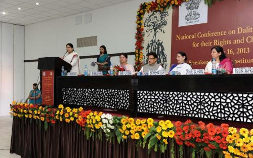 """National Commission for Women organised a National level Conference on Dalit women entitled """"Dalit Women : Voices for their Rights and Challenges"""" coordinated by Ms. Hemlata Kheria, Member NCW"""