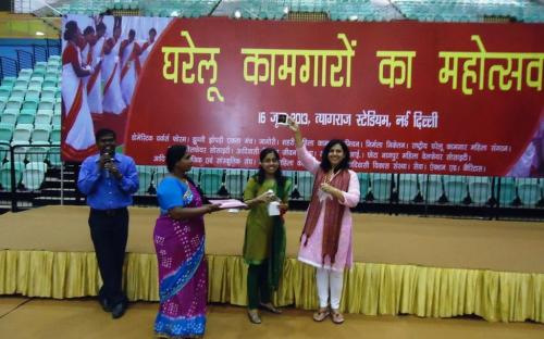 Dr. Charu WaliKhanna, Member, was Chief Guest at the function 'Gharelu Kamgar Mahotsav' celebrated on the occasion of 'International Domestic Workers Day'