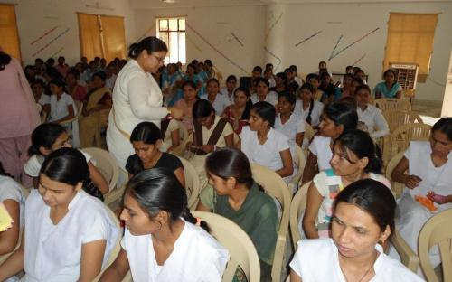 Ms Hemlata Kheria, Member, NCW visited Mewar Girls College, Chittorgarh, Rajasthan