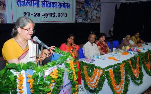 Smt. Mamta Sharma, Hon'ble Chairperson, NCW was Chief Guest at Inauguration of Rajasthani Lekhika Sameelan