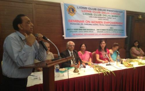 """Dr. Charu WaliKhanna, Member, NCW, was Chief Guest at programme on """"Women's Empowerment"""" organized by Lions Club"""