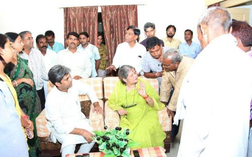 Smt. Mamta Sharma, Hon'ble Chairperson, NCW visited district Bundi and met the officials