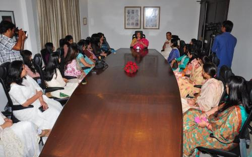 Smt. Mamta Sharma, Hon'ble Chairperson, NCW attended a discussion on issues of women empowerment taking the cause forward from an initiative by the Prabha Khaitan Foundation at Jaipur