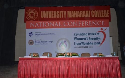 "Smt. Mamta Sharma, Hon'ble Chairperson, NCW was the Chief Guest for the National Conference on ""Revisiting Issues of Women Security from womb to tomb"""