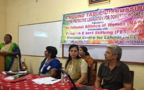 """Dr. Charu WaliKhanna, Member, NCW, was Chief Guest at Round Table Discussion on """"Need for Protective Legislation for Domestic Workers"""" at Hyderabad"""