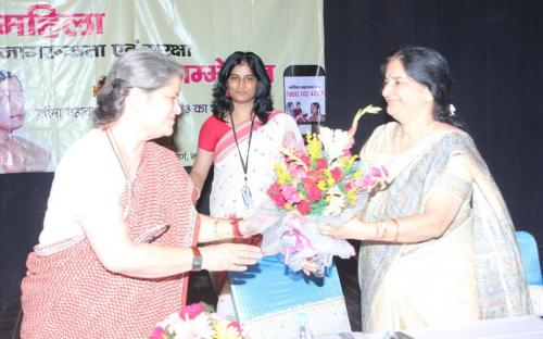 Smt. Mamta Sharma, Chairperson, NCW was the chief guest at conference on Women Awareness and Safety on 8th October, 2013 at Pearay Lal Auditorium