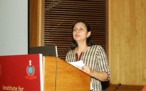 """Dr. Charu WaliKhanna, Member, NCW attended a workshop on """"Improving Women's Security in India"""" organized by Institute of Conflict Management & Bureau of Police Research & Development on 28th October"""