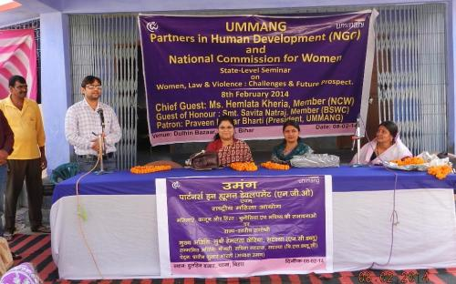 """Ms. Hemlata Kheria, MembeMs. Hemlata Kheria, Member, NCW was the Chief Guest of the National Level Seminar on """"Women, Law and violence: Challenges and Future Prospects"""""""