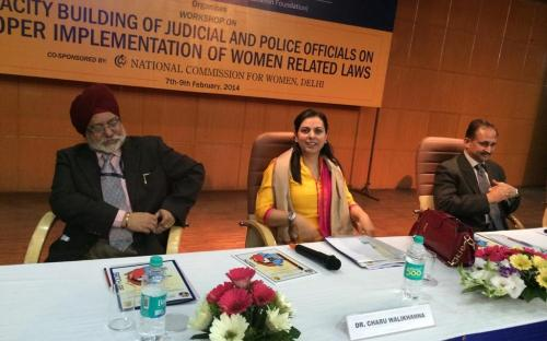 """Dr. Charu WaliKhanna, Member, NCW was Chief Guest at Workshop on """"Capacity Building of Judicial & Police Officials on proper implementation of women related laws"""""""