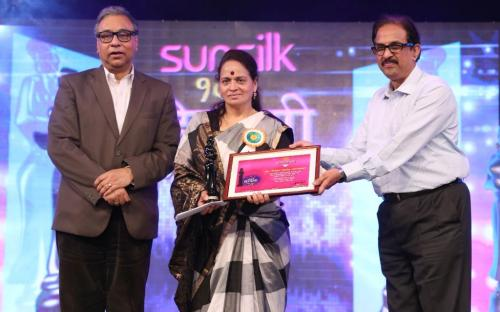 Adv. Nirmala Samant Prabhavalkar, Member, NCW was awarded Sahyadri Hirkari Award, 2014 at Doordarshan Kendra, Mumbai