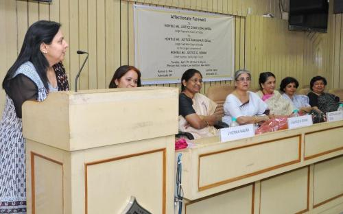 Dr. Charu WaliKhanna, Member, NCW attended farewell of Justice Gyan Sudha Misra, Judge, Supreme Court of India at Indian Law Institute, Delhi