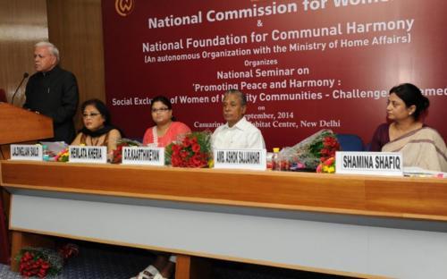 Amb. Ashok Sajjanhar giving the welcome address