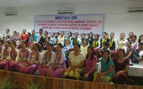 """State Women Commission organized a meeting on """"Status of customary laws – inheritance, marriage-divorce and customary system of dispensing justice in crime against women and its implication on status of women"""