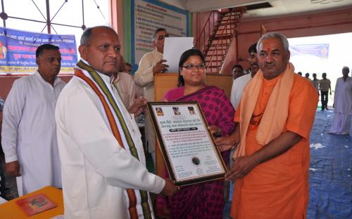Ms. Hemlata Kheria, Member, NCW was Chief Guest in a Vishwa Shanti Mahayagya and Vishva Paryavaran Mahasammelan