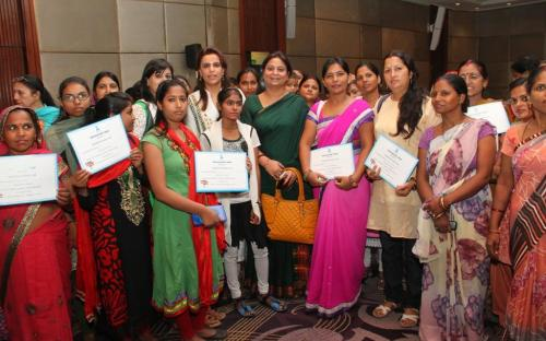 Member Shamina Shafiq attended a Symposium on Empowerment of women organized by ZEE TV