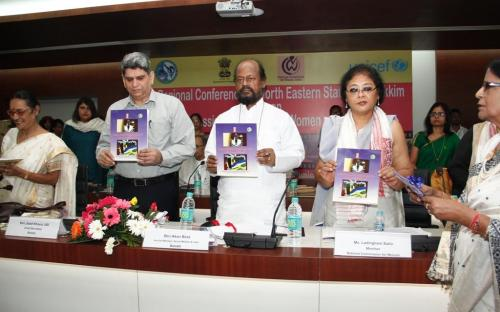 """On the occasion of launching the booklet published by Assam State Commission for Women on """"Crime Against Women and Legal Provisions"""""""